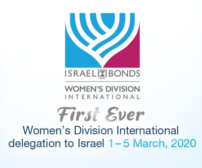 Israel Bonds Women's Division Inrernational delegation 2020 Itinerary